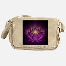 Chakra Lotus - Crown Violet - square Messenger Bag