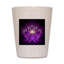 Chakra Lotus - Crown Violet - stadium b Shot Glass