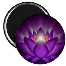 Chakra Lotus - Crown Violet - stadium blank Magnet
