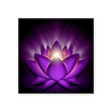 """Chakra Lotus - Crown Violet Square Sticker 3"""" x 3"""""""