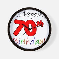 Papaws 70th Birthday Wall Clock