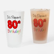 Papaws 80th Birthday Drinking Glass