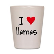 iheartllamas Shot Glass