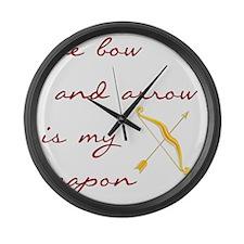 katniss2 Large Wall Clock