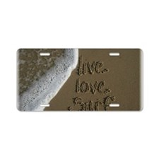 live love surf Aluminum License Plate