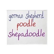 shepadoodle_black Throw Blanket