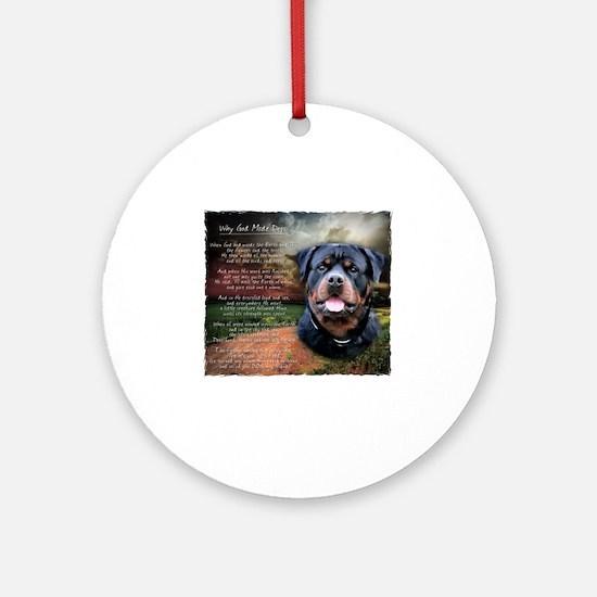 godmadedogs Round Ornament
