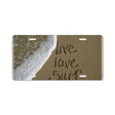 live love surf. Aluminum License Plate