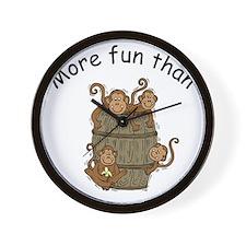 barrel of monkeys Wall Clock