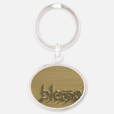 blessed Oval Keychain