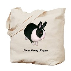 Dutch Bunny Hugger Tote Bag
