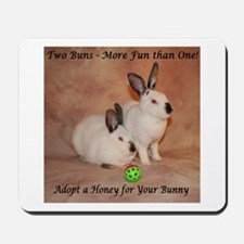 Two Bunnies Mousepad