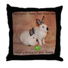 Two Bunnies Throw Pillow