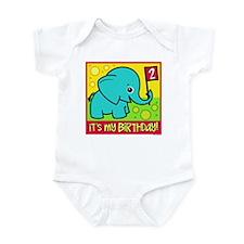 2nd Birthday Elephant Infant Bodysuit