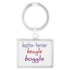 boggle(small)_black Landscape Keychain