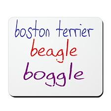 boggle(small)_black Mousepad