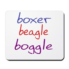 boggle(large)_black Mousepad