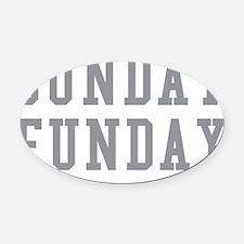 sunFundayD Oval Car Magnet
