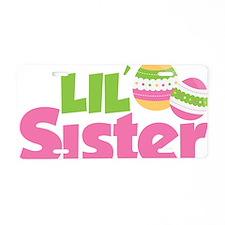 2EasterEggsLilSister Aluminum License Plate