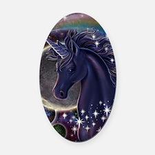Stellar_Unicorn_16x20 Oval Car Magnet