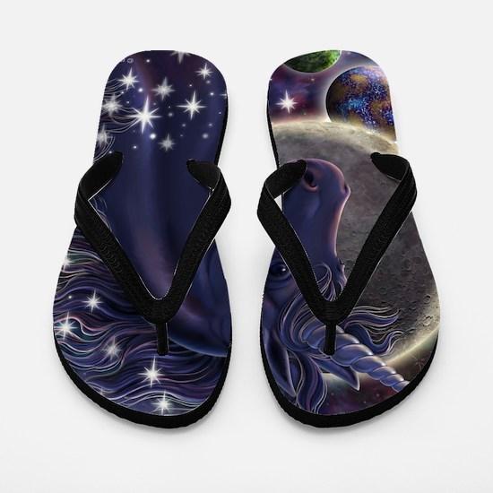 Stellar_Unicorn_16x16 Flip Flops