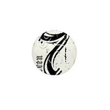 seven_black-on-white Mini Button