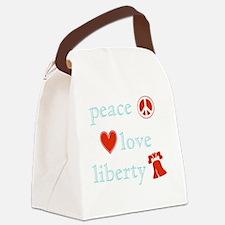PeaceLoveLiberty Canvas Lunch Bag