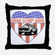 DragStripGrrl_smalls Throw Pillow