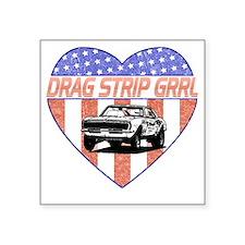 "DragStripGrrl Square Sticker 3"" x 3"""