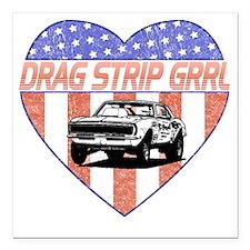 """DragStripGrrl Square Car Magnet 3"""" x 3"""""""