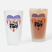 DragStripGrrl Drinking Glass