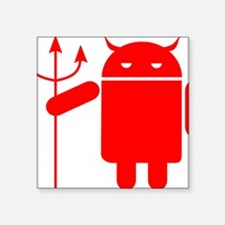 """devil android Square Sticker 3"""" x 3"""""""