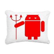 devil android Rectangular Canvas Pillow
