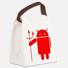 devil android Canvas Lunch Bag