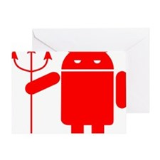 devil android Greeting Card