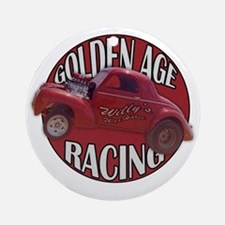 Golden age willies red Round Ornament