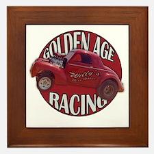 Golden age willies red Framed Tile