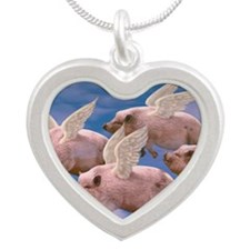 cp-ww-pad-airborne Silver Heart Necklace