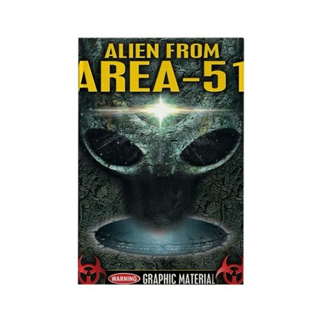 Area-51 Alien Rectangle Magnet