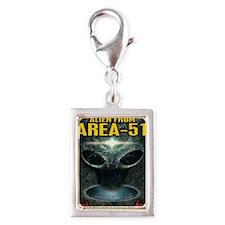 Area-51 Alien Silver Portrait Charm