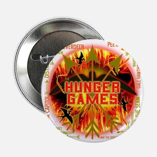 "hunger games katniss peeta gale the t 2.25"" Button"