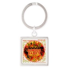 hunger games katniss peeta gale th Square Keychain