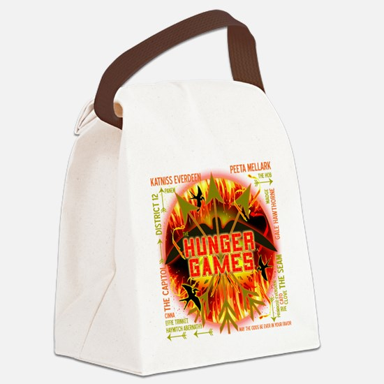 hunger games katniss peeta gale t Canvas Lunch Bag