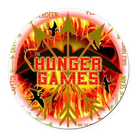 hunger games katniss peeta gale t Round Car Magnet