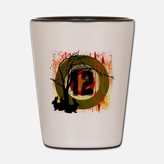 hunting in district 12 the hunger games Shot Glass