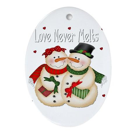 Love Never Melt's Oval Ornament