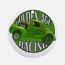 golden age willys green Round Ornament