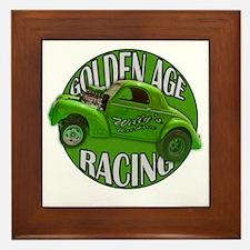 golden age willys green Framed Tile