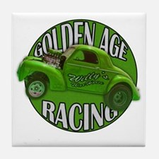 golden age willys green Tile Coaster