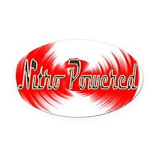 nitro powered Oval Car Magnet